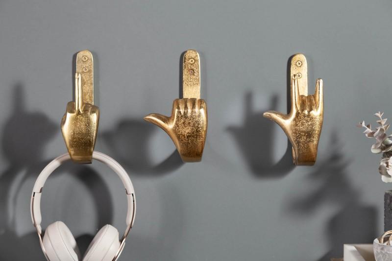 Sada háčků na prsty na ruce 3 zlaté / 40917