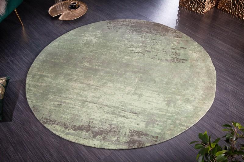 Koberec Modern Art 150cm kulatý zelený béžový / 41257