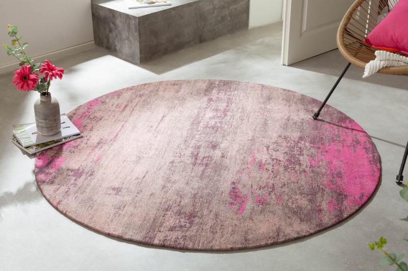 Koberec Modern Art 150cm kulatý béžový růžový / 41261