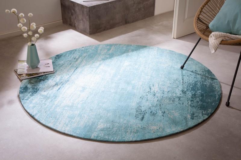 Koberec Modern Art 150cm kulatý tyrkysově béžový / 41263