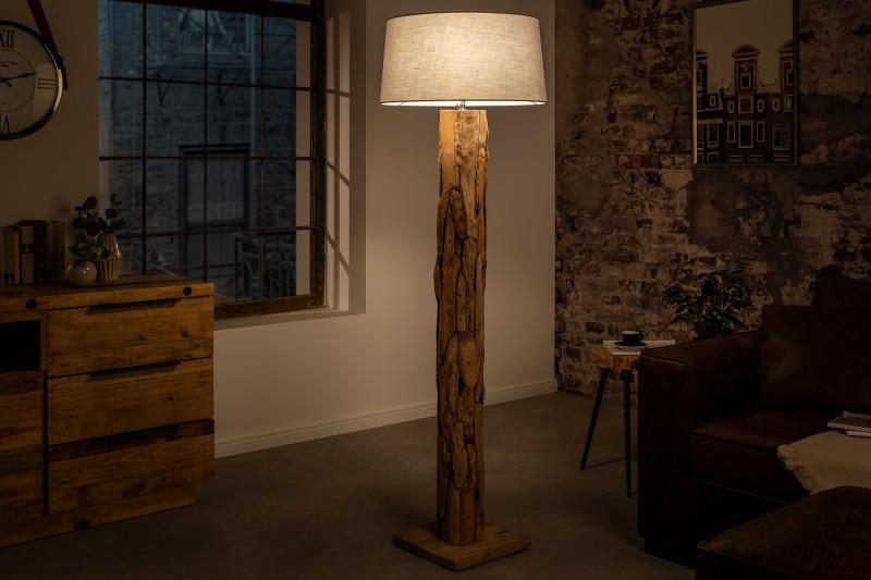 Stínová stojací lampa Roots šedá kónická / 41092