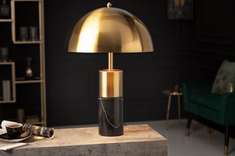 Stolní lampa Burlesque zlatý mramor černá / 41319
