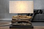 Tischleuchte aus Treibholz Perifere beige/ 19477