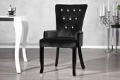 Stuhl Boutique mit Armlehnen schwarz/ 12884