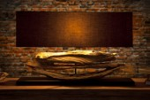 Tischleuchte aus Treibholz Riverine schwarz/ 17327