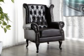 Ohrensessel Chesterfield dark coffee/ 9690