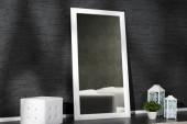 Wandspiegel Espejo 180cm weiss/ 10754