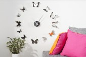 Wanduhr Butterflies chrom/ 20792