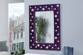 Wandspiegel Boutique 80cm lila Samt/ 21108