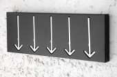 Wandgarderobe Arrow 5er schwarz/ 20580