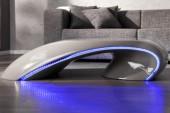 Couchtisch Curve grau  - mit LED Beleuchtung/18880