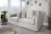 Sofa Heaven 3er Leinen beige/ 22688