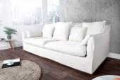 Sofa Heaven 3er Leinen weiss/ 22689