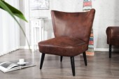 Sessel Sixties antik coffee/ 23240