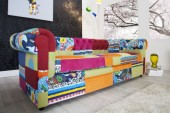 Sofa Chesterfield Patchwork bunt/ 35018