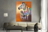 Ölbild PopArt Zebras 75x100cm/ 30065