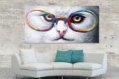 Ölbild PopArt Cat 60x120cm Katze/ 30068