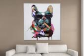 Ölbild PopArt BigBoss 75x75cm Hund/ 30070