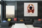 Ölbild PopArt Bello 80x80cm Hund/ 30086