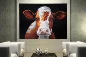 Ölbild PopArt Cow 90x120cm Kuh/ 30094