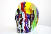 Skulptur PopArt Skull bunt/ 30077