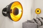 Wandleuchte Studio schwarz gold /35124