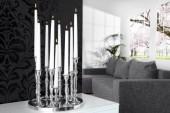 Kerzenständer 9-flammig silber/ 17366