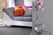 Vase Wave silber 50cm/ 8841