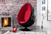 Sessel Space Egg schwarz rot/ 1135