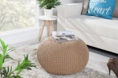 Pouf Leeds 50cm coffee aus Strick/ 35088