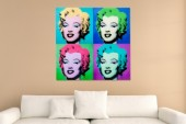 Bild Pop Art Marilyn 80x80cm Glas/ 35549