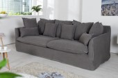 Sofa Heaven 3er grau stonewashed/ 35807