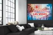 Bild Las Vegas 120x80cm Glas/ 35977
