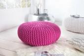 Pouf Leeds 75cm pink aus Strick/ 36135