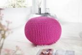 Pouf Leeds 50cm pink aus Strick/ 23107