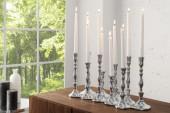Kerzenständer 10-flammig silber/ 35731