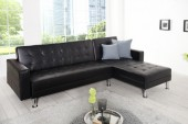 Ecksofa Chaise Lounge schwarz/ 36139