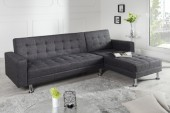 Ecksofa Chaise Lounge Stoff anthrazit/ 36140