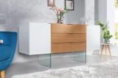 Sideboard Onyx 160cm weiss Glas-Eiche/ 36198