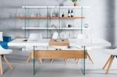 Esstisch Onyx 160-200cm weiss Glas-Eiche/ 36197