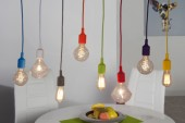 Hängeleuchte Colorful Bulbs bunt 8 Lichter/ 22865