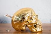 Spardose Skull 20cm gold/ 36397