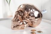 Spardose Skull 20cm kupfer/ 36399