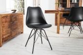Stuhl Scandinavia Retro schwarz schwarz/ 36192