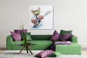 Ölbild PopArt Frog 50x50cm/ 35414