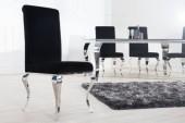 Stuhl Modern Barock schwarz/ 36546