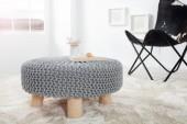 Sitzhocker Leeds 65cm grau aus Strick/ 36630
