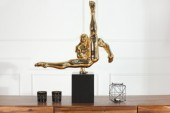 Skulptur Athlete II Turner 70cm gold/ 36729