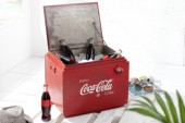 Couchtisch Getränkebox 45cm rot/ 36603