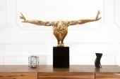 Skulptur Athlete I Muskeln 75cm gold/ 36747